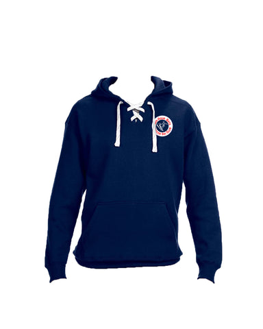 Picture of Navy Lace Up Hoodie