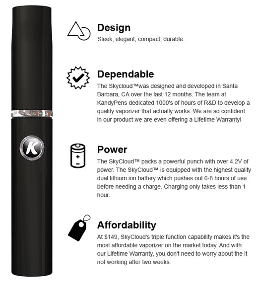 Sky Cloud Vaporizer Features
