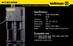Nitecore Intellicharger i2 Battery Charger