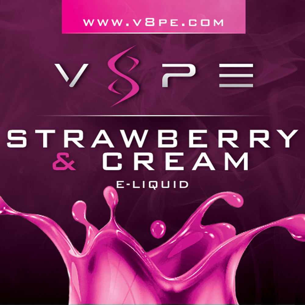 V8PE's E-liquid - Strawberries & Cream 15 ML