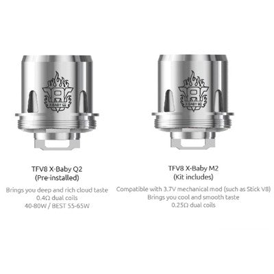 SMOK TFV8 X-BABY BEAST BROTHER TANK REPLACEMENT COILS- 3PK