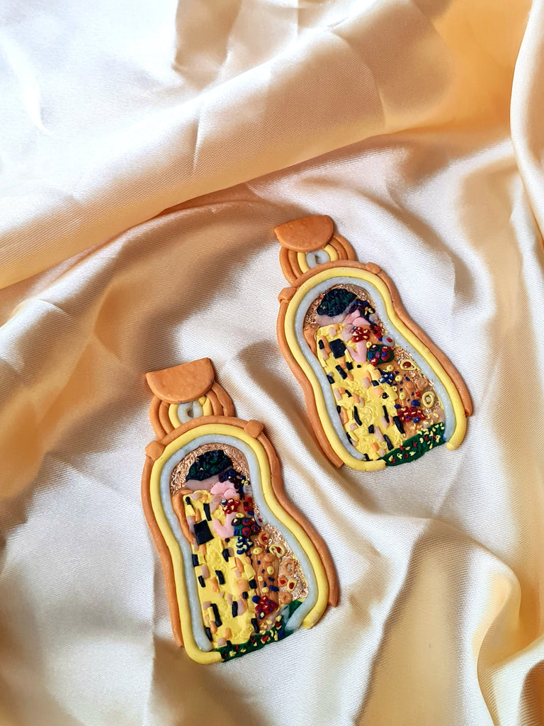 The Kiss by Klimt earrings