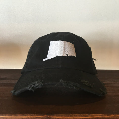 "RudeBoyy ""Connecticut"" Distressed Look Strapback Cap/Dad Hat"