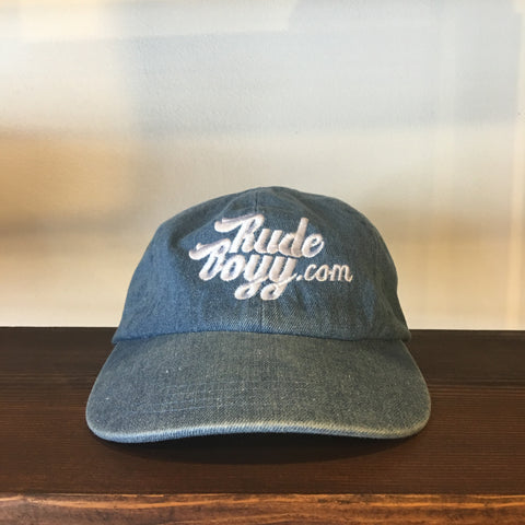 RudeBoyy Washed Denim Strapback Cap/Dad Hat