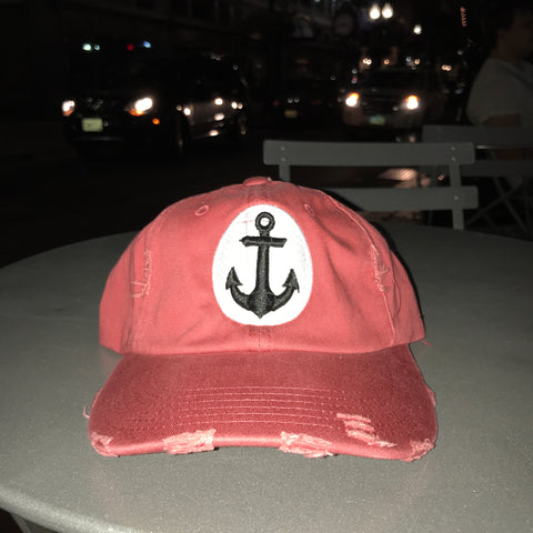 "RudeBoyy  ""Anchor"" Distressed Dad Hat"