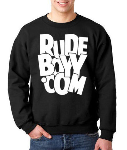 "RudeBoyy ""Big Bold Logo"" Crew Neck Sweater"