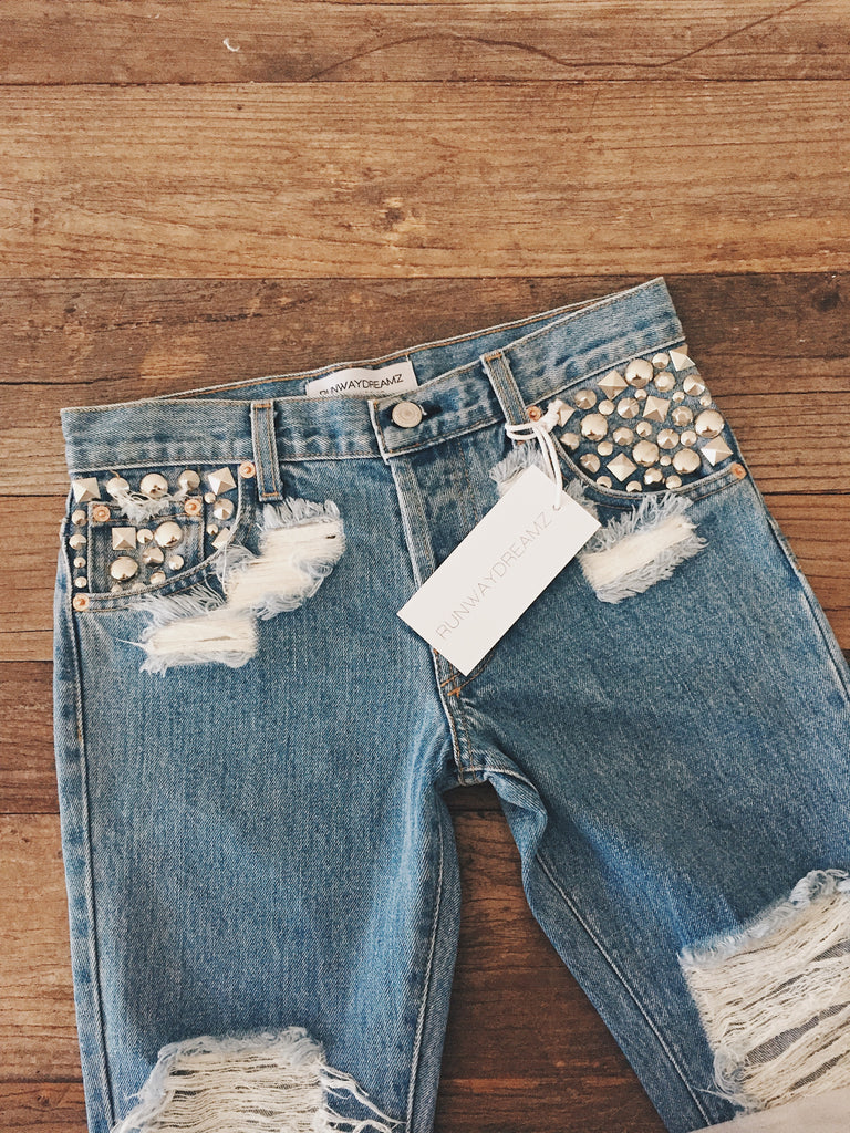 Runwaydreamz Studded Jeans Summer 2018 Collection One of A Kind Preview