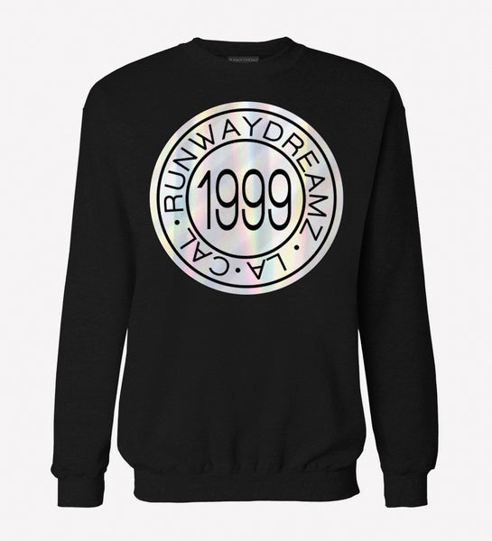 1999 Medallion Holographic Black Sweatshirt