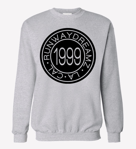 1999 Medallion Heather Gray Pullover Sweatshirt
