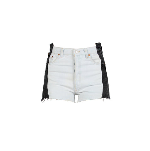 Vintage Black/White Cut Off High Waisted Shorts