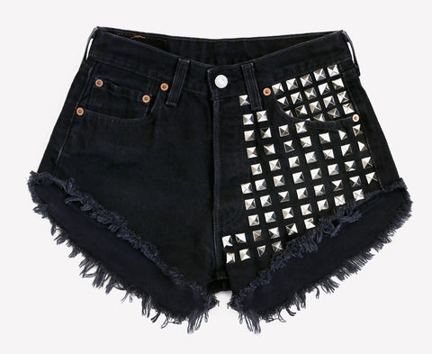902 Studded Black Vintage Shorts