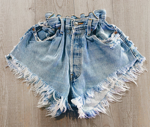 Boho Vintage High Waisted Shorts