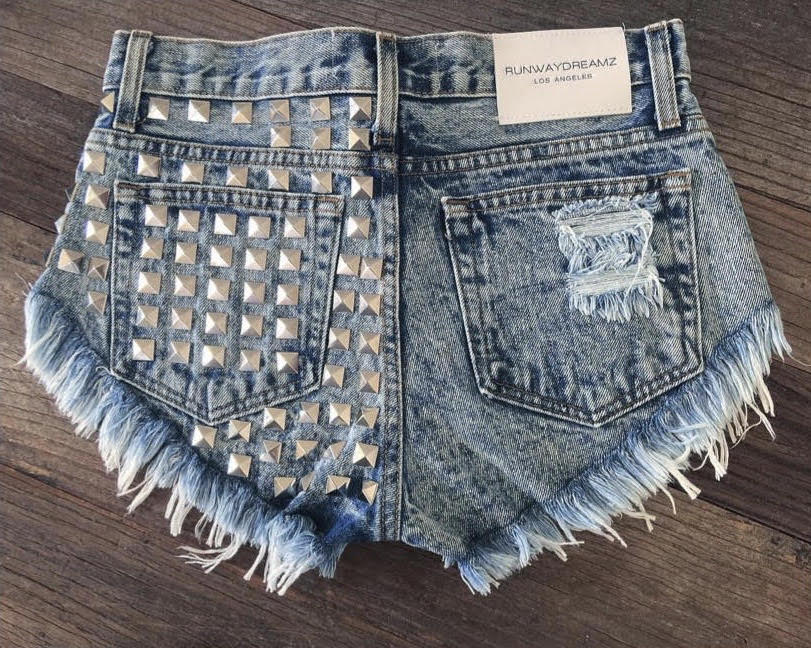 Dangers Acid Studded Babe Shorts