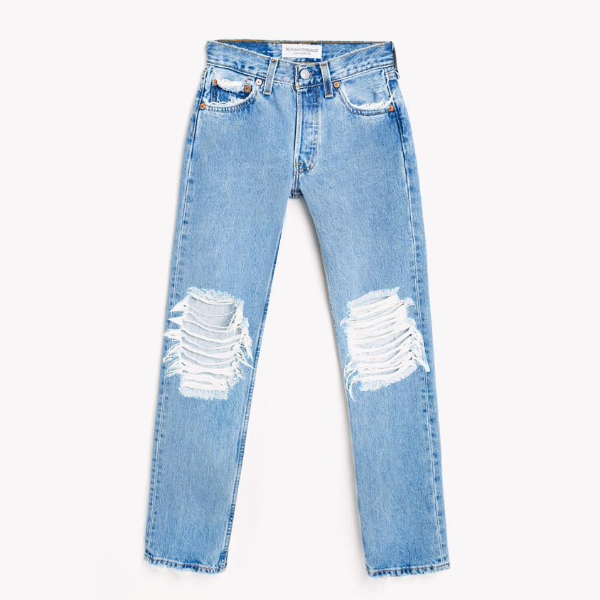 Knee Holes High Rise Vintage Jeans