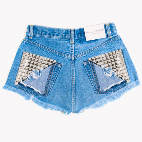 Kai High Rise Studded Vintage Cut Off Shorts