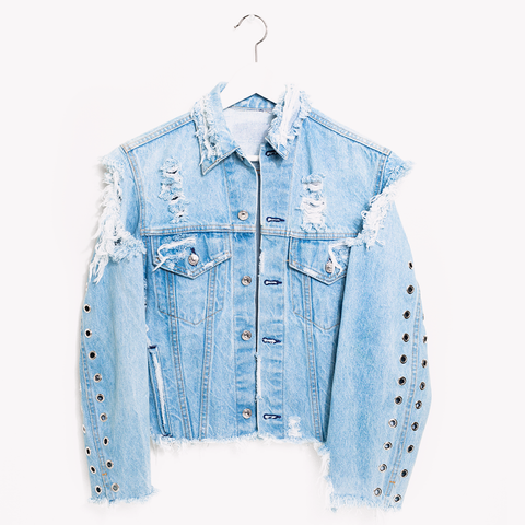 One a Kind Vintage Concert Jeans Denim Jacket