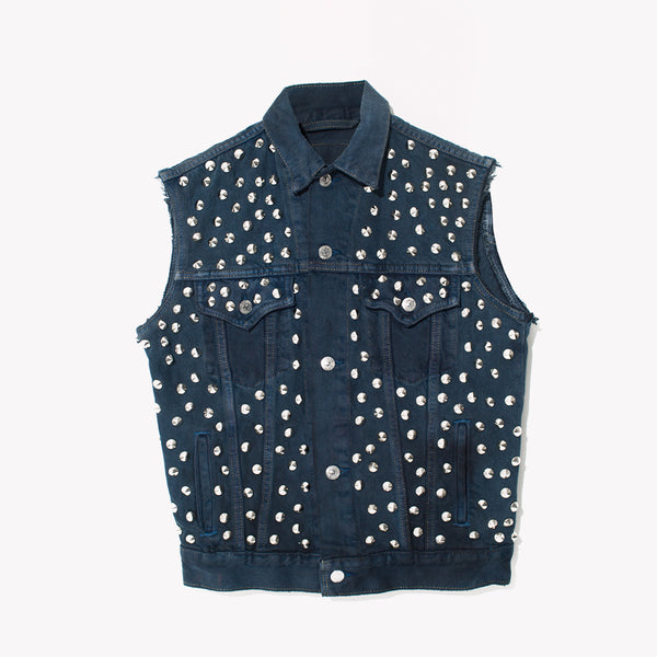 RWDZ Nightcap Studded Denim Vest