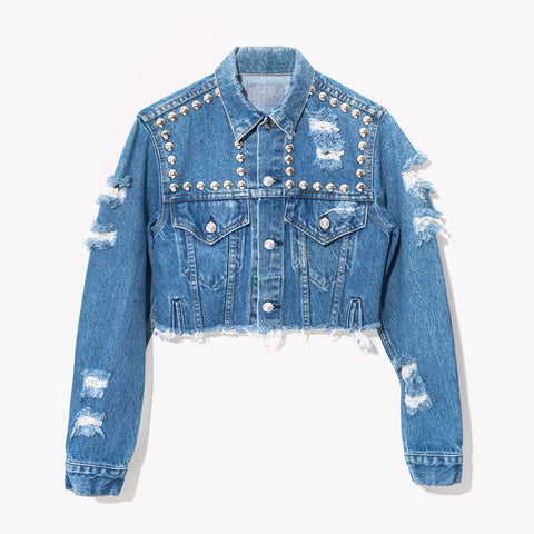 RWDZ Wild West Studded Vintage Denim Jacket