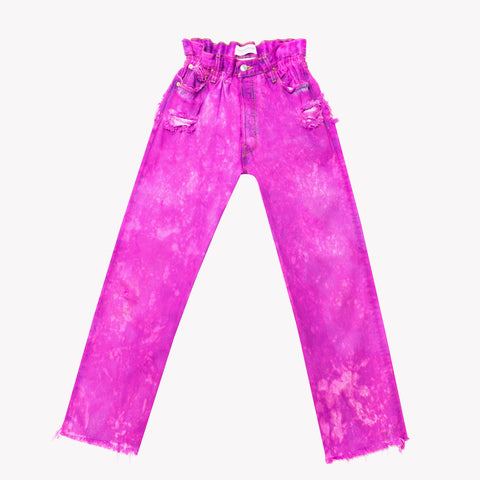 Boho Candy Clouds Vintage High Waisted Jeans
