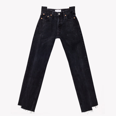Deconstruct Vintage Black High Waisted Jeans