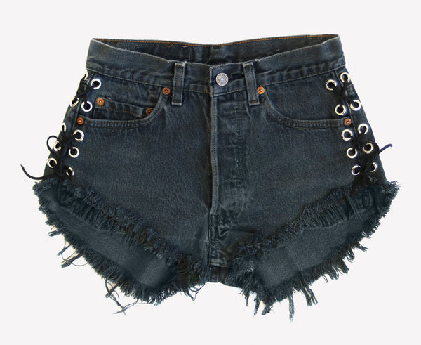 Lace Up Vintage Levis Shorts - One Of a Kind