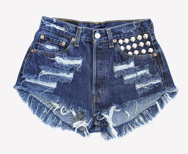 450 Studded Dark Vintage Levis Shorts