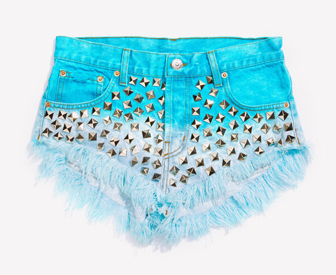 Wunderlust Mermaid Studded Babe Shorts