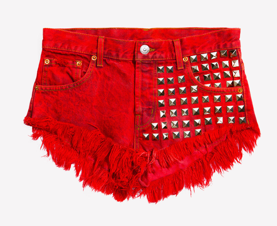 902 Rouge Studded Vintage Shorts - Limited
