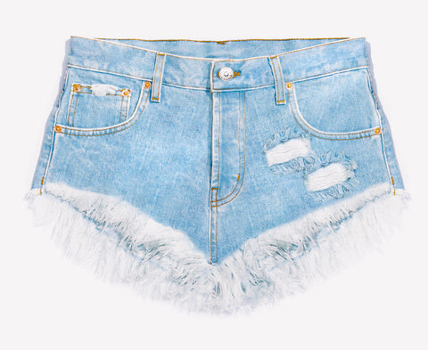 Lovers Light Stone Babe Distressed Cut Off Shorts