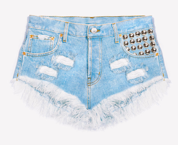 450 Light Stone Cut Off Babe Shorts