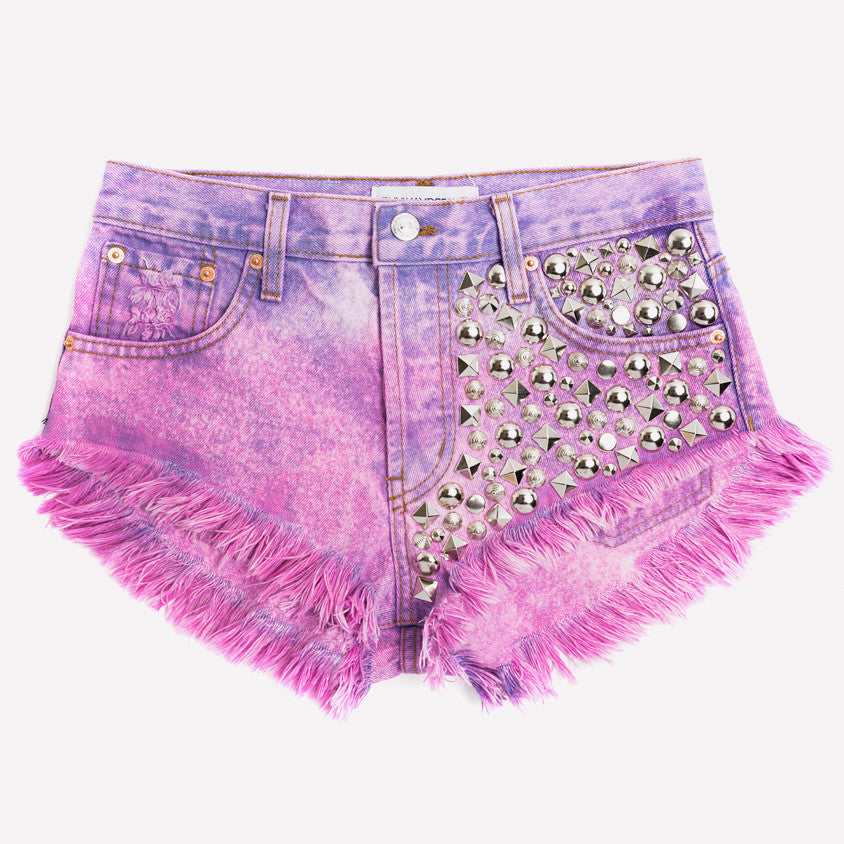 Eclipse Crush Ombre Studded Vintage Shorts