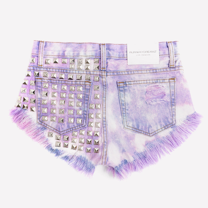 Dangers Love Clouds Studded Vintage Babe Shorts
