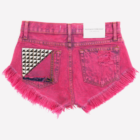 Jett Crimson Studded Babe Shorts