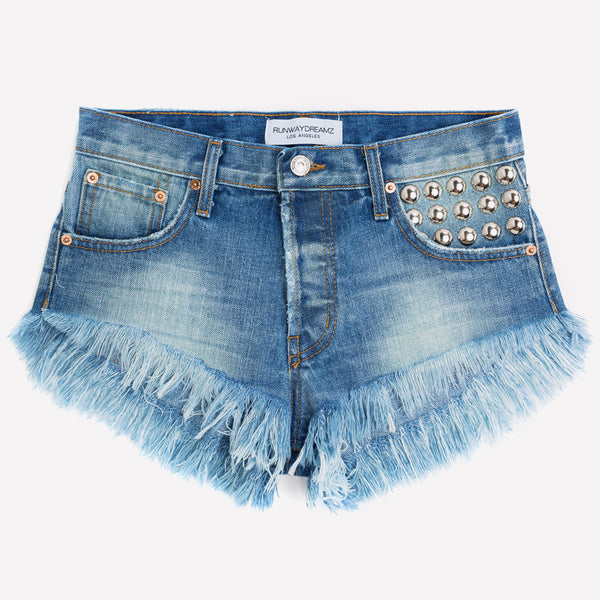 450 Vintage Faded Studded Babe Shorts