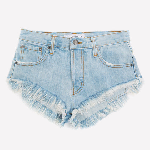 Runaway Powder Indigo Babe Cut Off Shorts