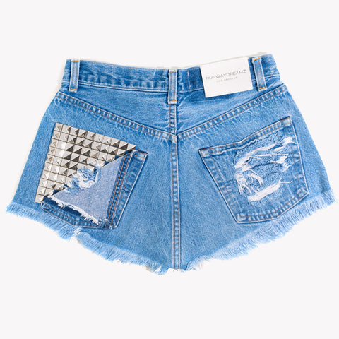 Jett High Rise Studded Vintage Cut Off Shorts