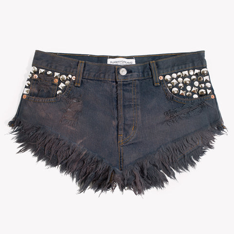 Sparkle Choco Studded Babe Shorts
