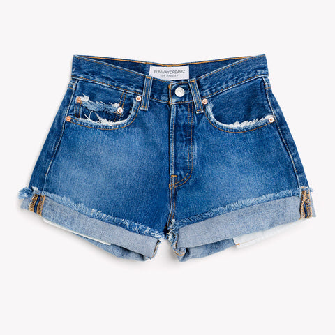 High Rise Vintage Faded Shorts