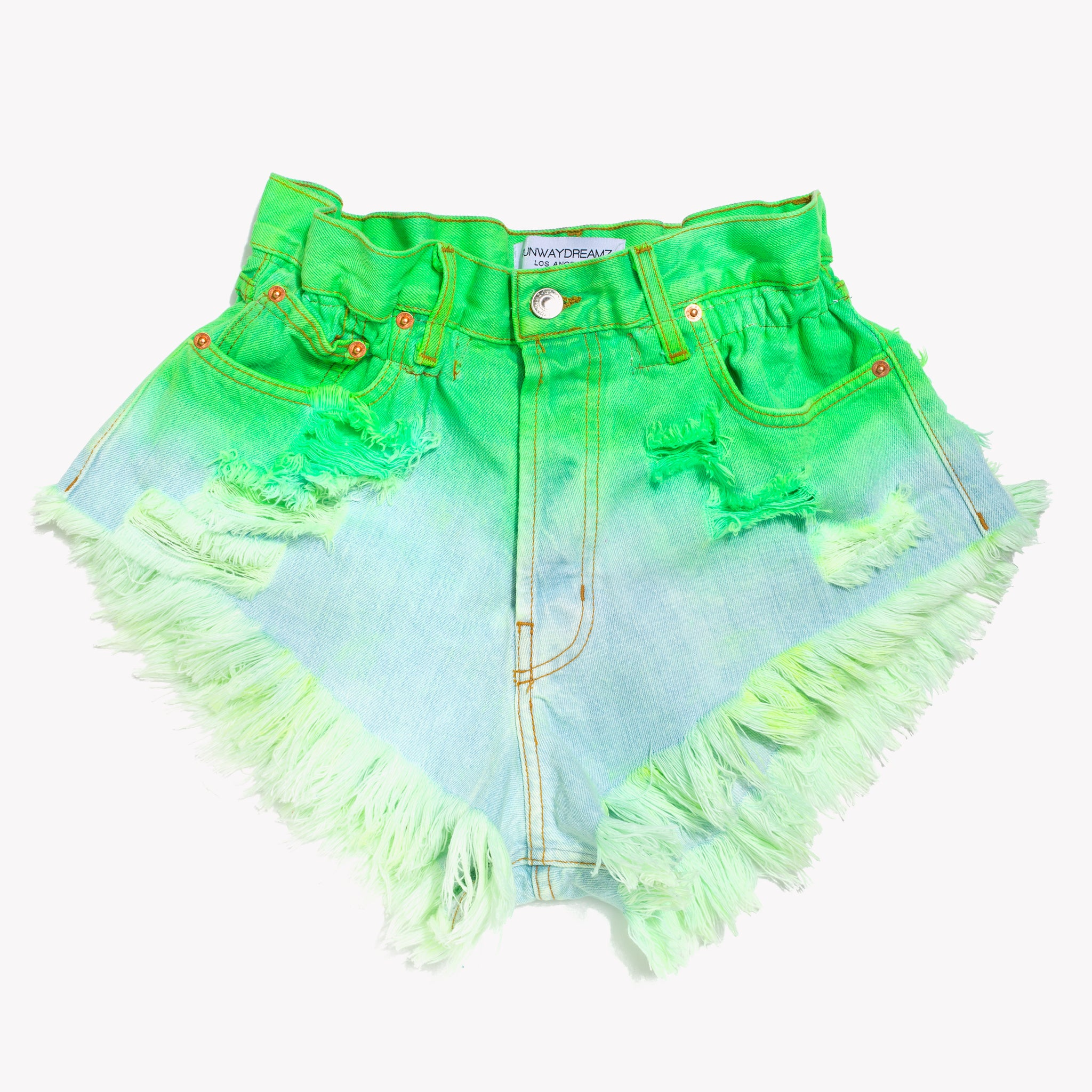 Boho Neon Tropics Vintage High Waisted Shorts