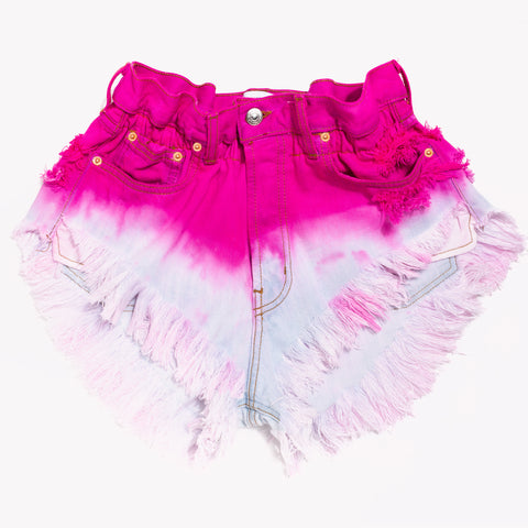 Boho Candy Pink Vintage High Waisted Shorts