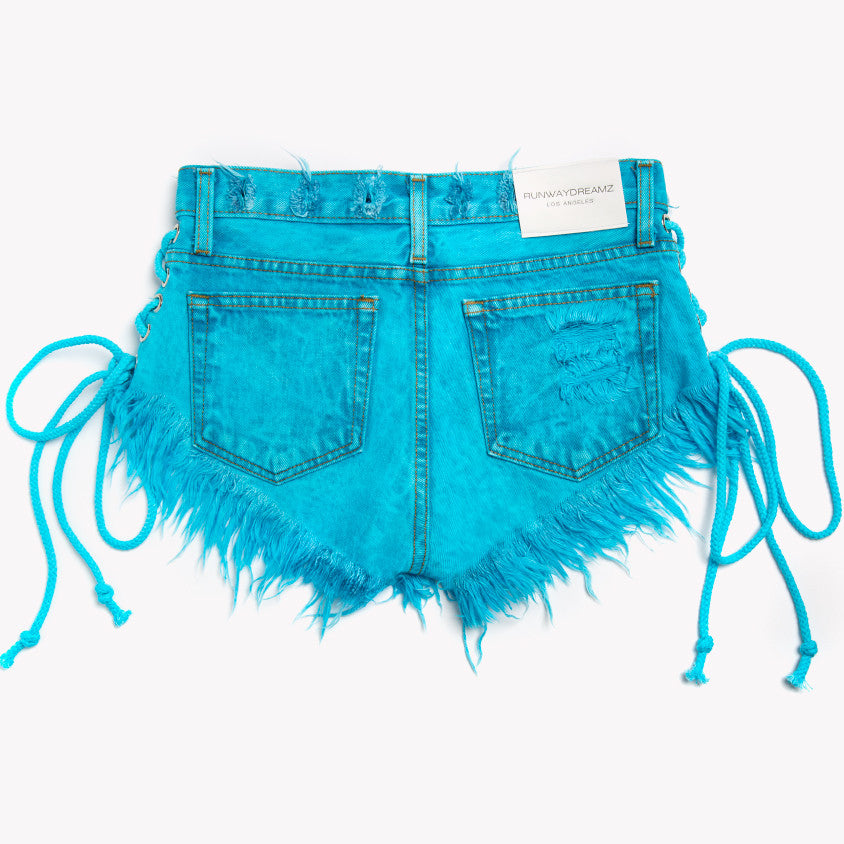 Lace Up Wildest Skyy Vintage Shorts
