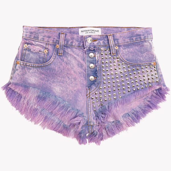 Lita Cotton Candy Studded Babe Shorts