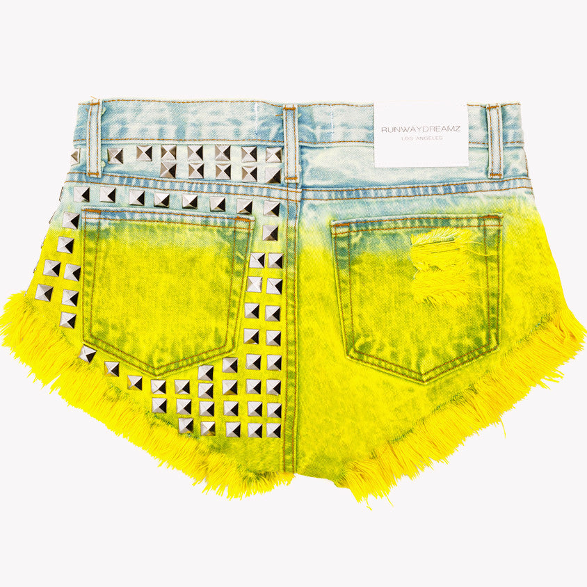 Muse Lemonade Studded Vintage Shorts