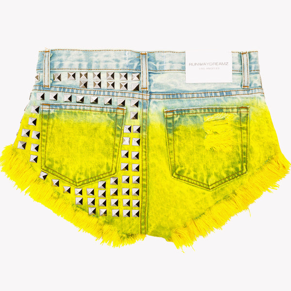 Muse Lemonade Studded Babe Shorts