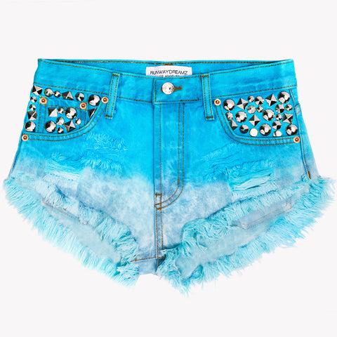 Sparkle Mermaid Studded Babe Shorts