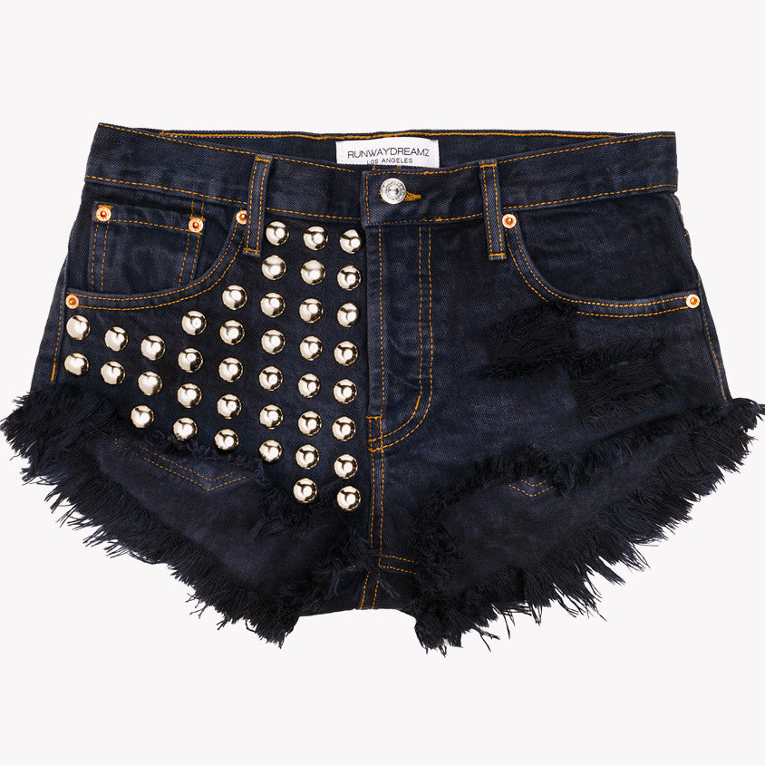 Treasure Knightcat Studded Babe Shorts