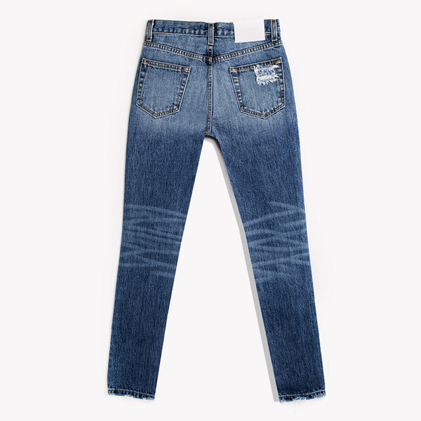 Skinny Dark Vintage Whiskers High Rise Jeans