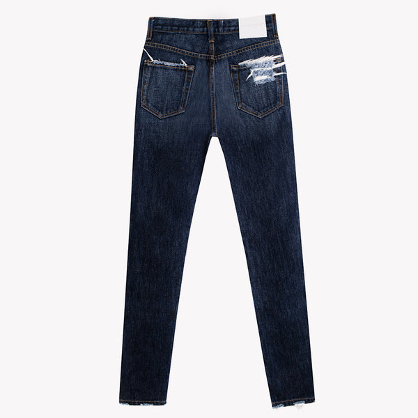 Skinny Dark Whiskers High Rise Jeans
