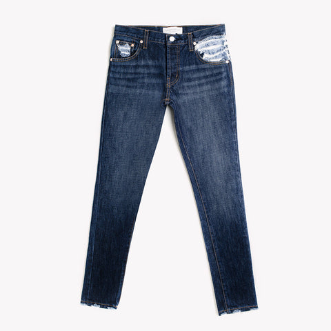 Skinny Dark Whiskers Pocket Babe Jeans