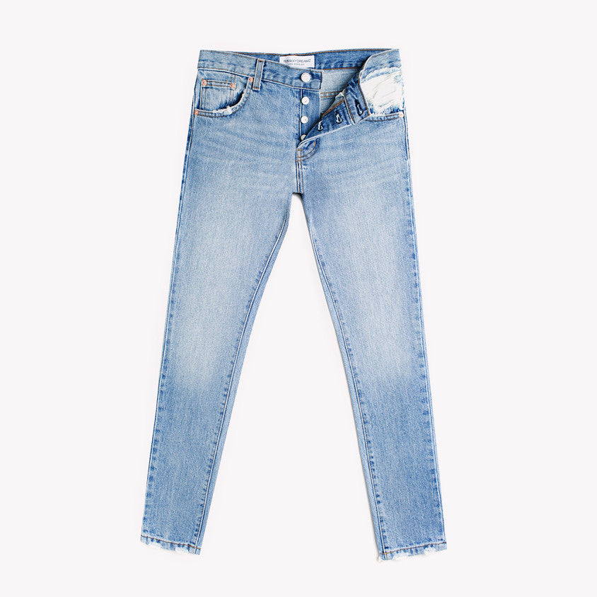 Skinny Light Aged Distressed Babe Jeans
